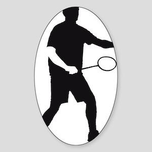 Badminton_02_2012_A_1c Sticker (Oval)