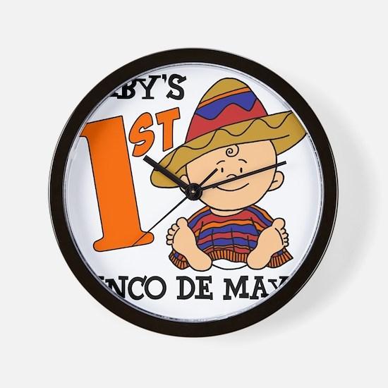 Babys First Cinco De Mayo Wall Clock