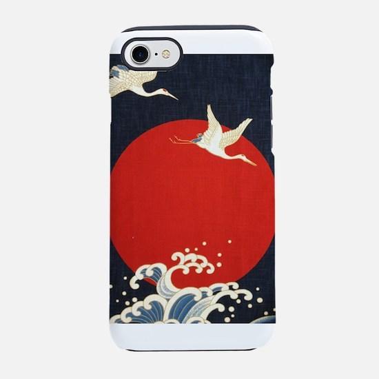 VINTAGE JAPANESE PRINT CRANES & Waves iPhone 7