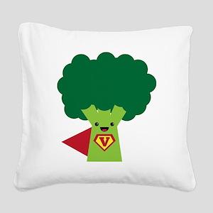 Super Broccoli Square Canvas Pillow