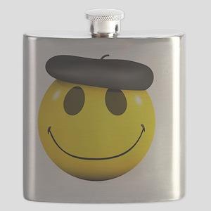 3d-smiley-beret Flask