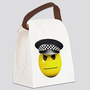 3d-smiley-police Canvas Lunch Bag