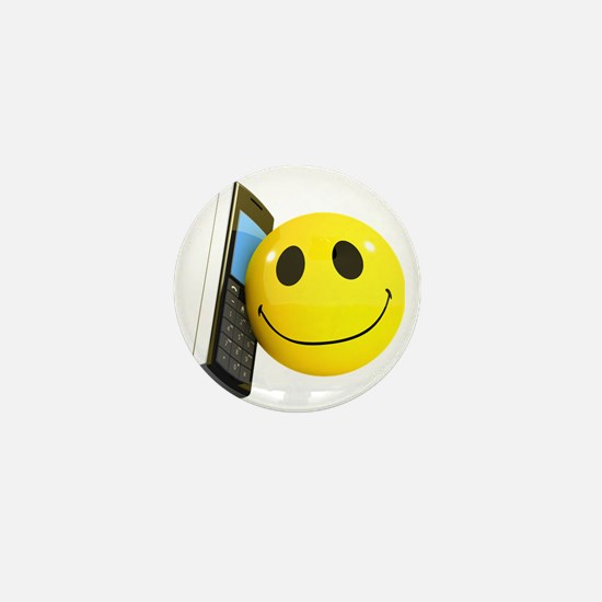 3d-smiley-mobile Mini Button