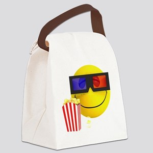 3d-smiley-popcorn Canvas Lunch Bag