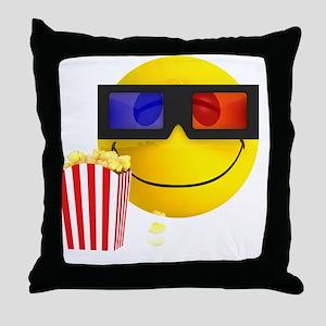3d-smiley-popcorn Throw Pillow