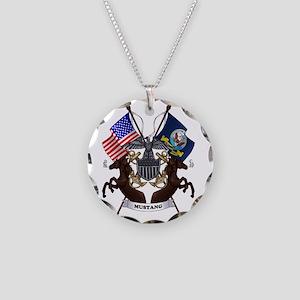 Emblem-Shaded Necklace Circle Charm