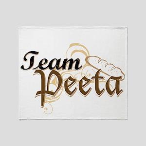 Team Peeta 2 Throw Blanket