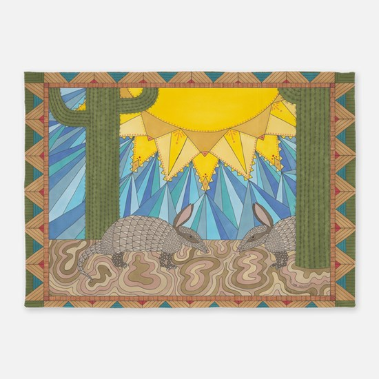 A is for Armadillo 5'x7'Area Rug