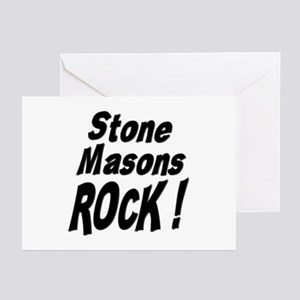 Stone Masons Rock ! Greeting Cards (Pk of 10)