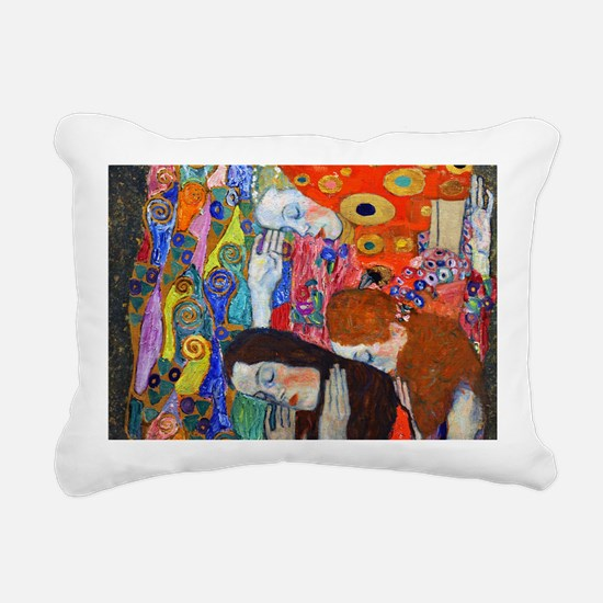 Laptop Klimt Hope II Rectangular Canvas Pillow