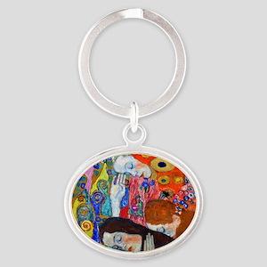 Laptop Klimt Hope II Oval Keychain