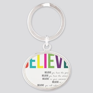 Believe_revised_products_2 Oval Keychain