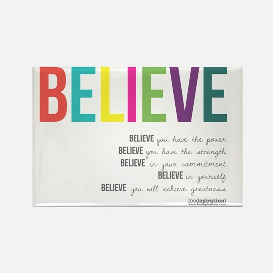 Believe_revised_products_2 Rectangle Magnet