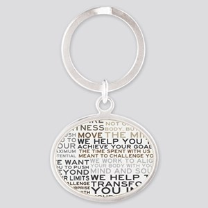TRAINER-MANIFESTO_PRODUCTS Oval Keychain
