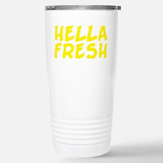 Always Fresh Yellow Stainless Steel Travel Mug
