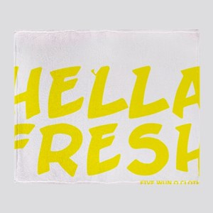 Always Fresh Yellow Throw Blanket