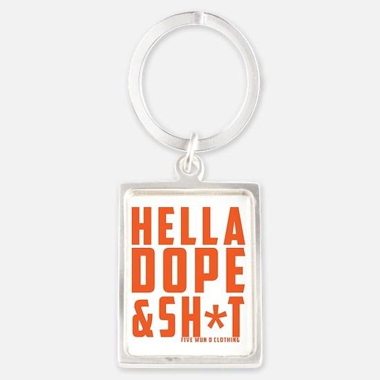 Hella Dope-Orange Portrait Keychain