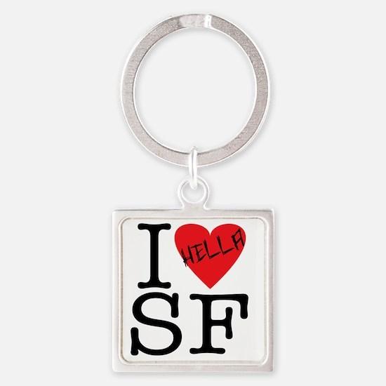 Love SF.gif Square Keychain