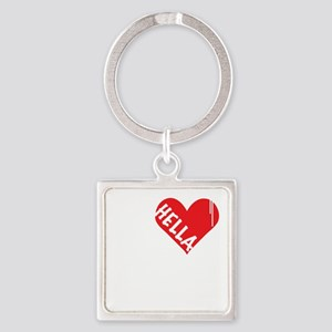 Hella Love (Red) Square Keychain