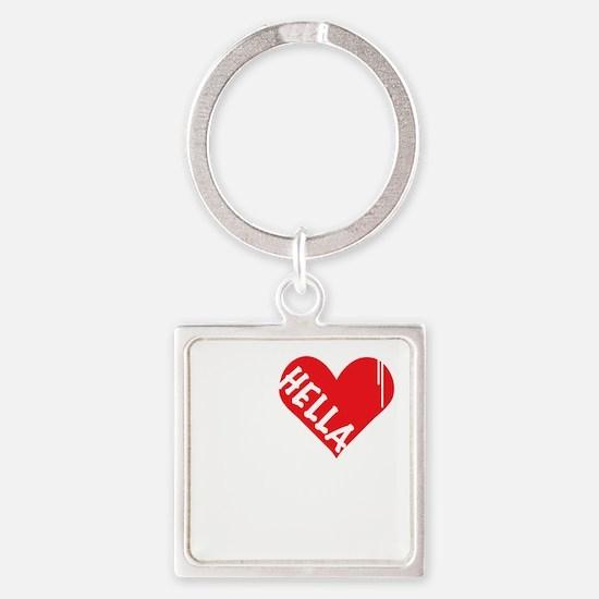 Hella Love (Red).gif Square Keychain
