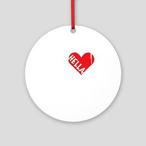 Hella Love (Red) Round Ornament