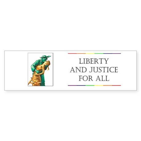 Liberty/Justice Bumper Sticker
