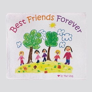 new_ml_bestfriends3-01 Throw Blanket