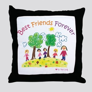 new_ml_bestfriends3-01 Throw Pillow