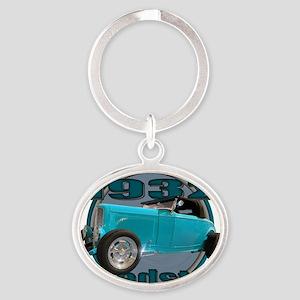sweet 32 ford sky blue Oval Keychain