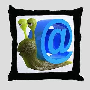 3d-snail-email Throw Pillow