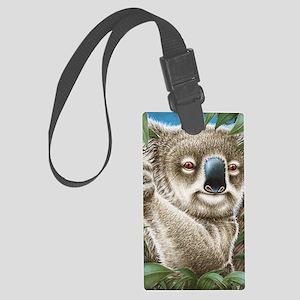 Koala Portrait (ipad 2 folio cov Large Luggage Tag
