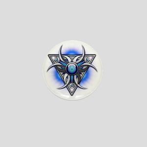 Triple Goddess - blue - transparent Mini Button