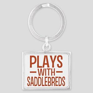 playsamericansaddlebreds Landscape Keychain