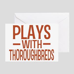 playsthoroughbreds Greeting Card