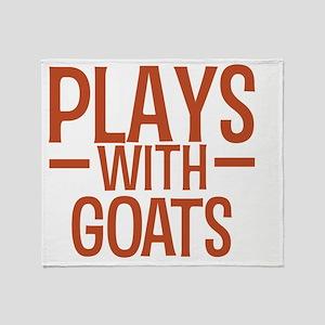playsgoats Throw Blanket