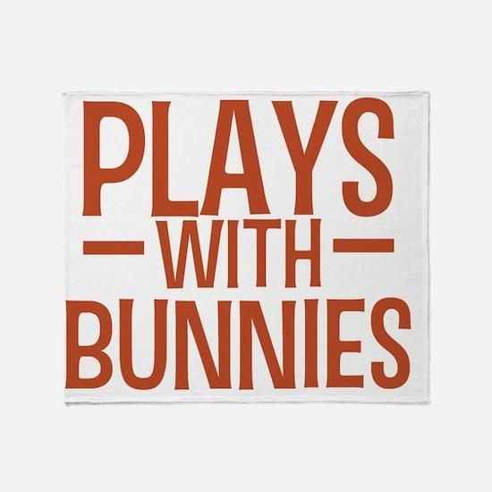 playsbunnies Throw Blanket