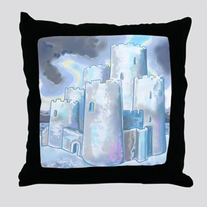 Ice Castle (Suede Pillow) Throw Pillow