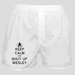 keep calm shut up wesley Boxer Shorts