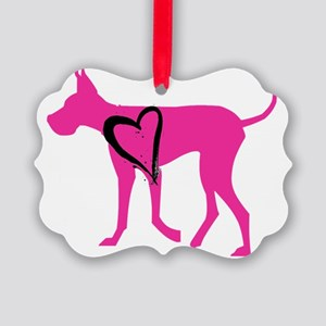 Pink-Dane Picture Ornament