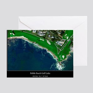 Pebble beach greeting cards cafepress pebble beach 18th hole greeting card m4hsunfo