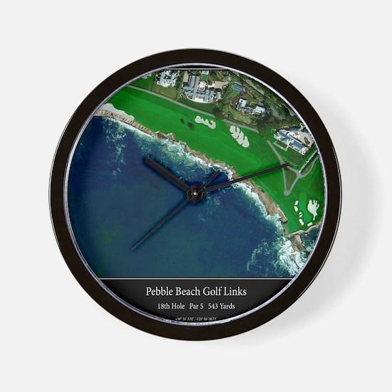 Pebble Beach 18th Hole Wall Clock