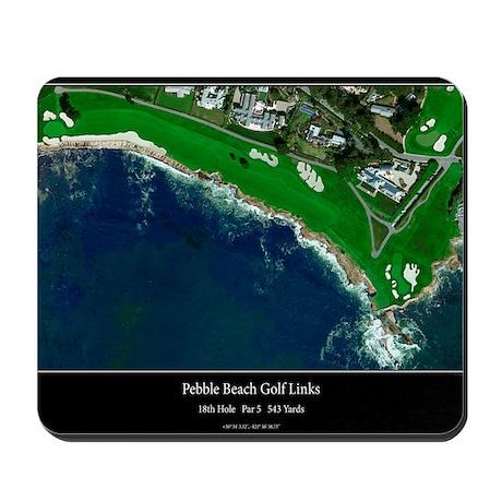 golf office decor. Pebble Beach 18th Hole Mousepad Golf Office Decor