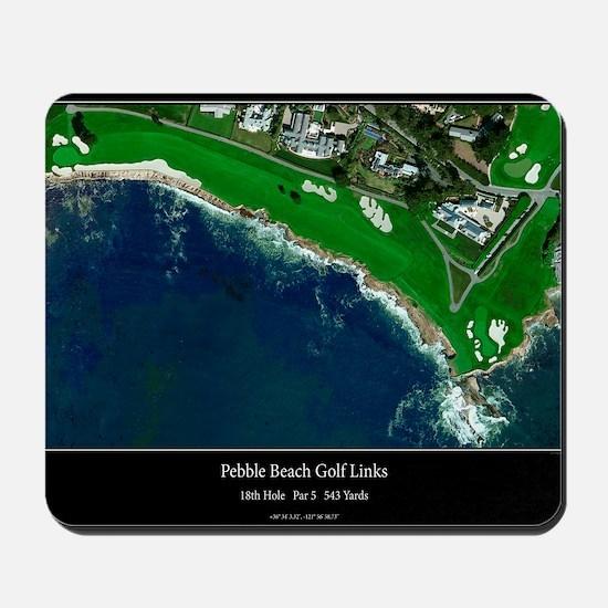 Pebble Beach 18th Hole Mousepad