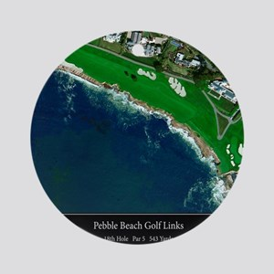 Pebble Beach 18th Hole Round Ornament