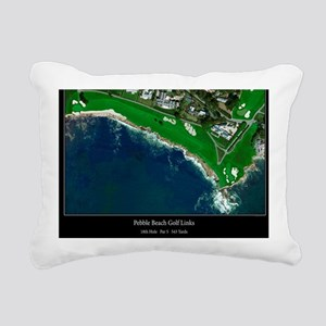 Pebble Beach 18th Hole Rectangular Canvas Pillow