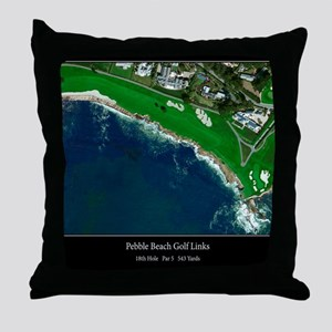 Pebble Beach 18th Hole Throw Pillow