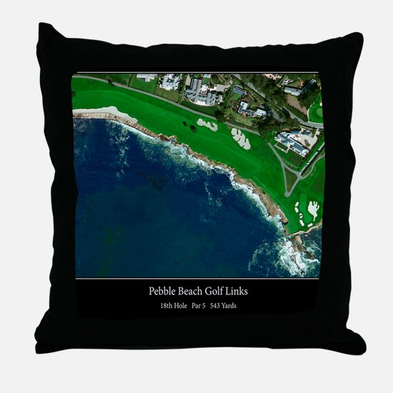 Pebble Beach 18th Hole Throw Pillow