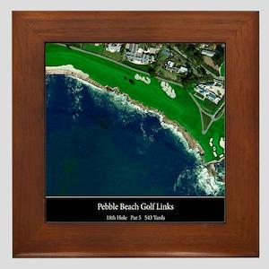 Pebble Beach 18th Hole Framed Tile