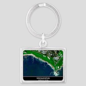 Pebble Beach 18th Hole Landscape Keychain