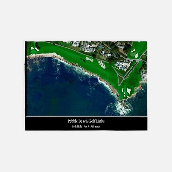 Pebble Beach 18th Hole 5 X7 Area Rug